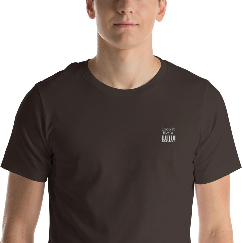 Drop it like a Squat embroidered T-Shirt Chiro's Brown S