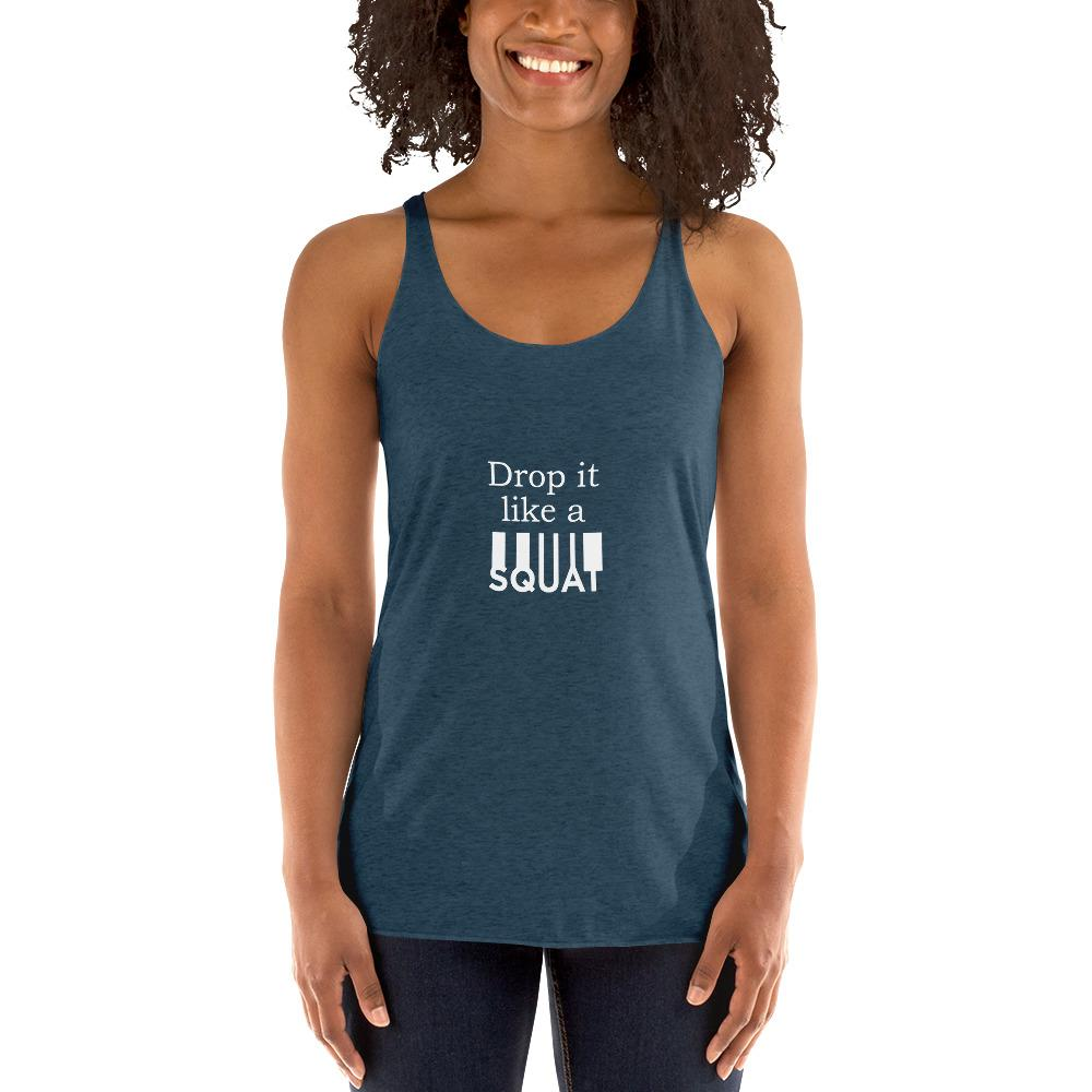 Drop It Like A Squat Women's Tank Top Chiro's Indigo XS
