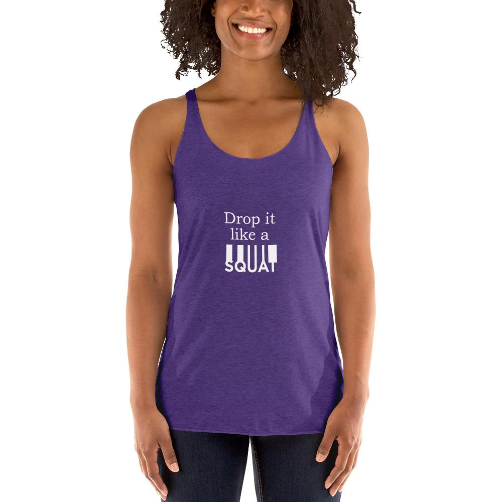 Drop It Like A Squat Women's Tank Top Chiro's Purple Rush XS