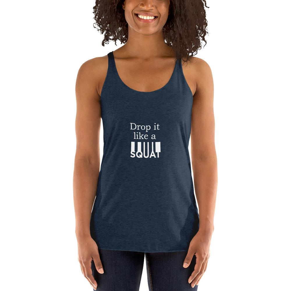Drop It Like A Squat Women's Tank Top Chiro's Vintage Navy XS