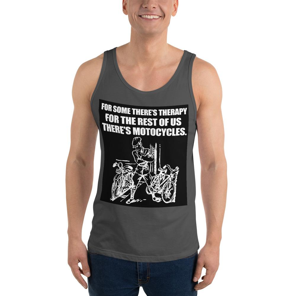 For Some There's Therapy Tank Top Biker Chiro's Asphalt XS