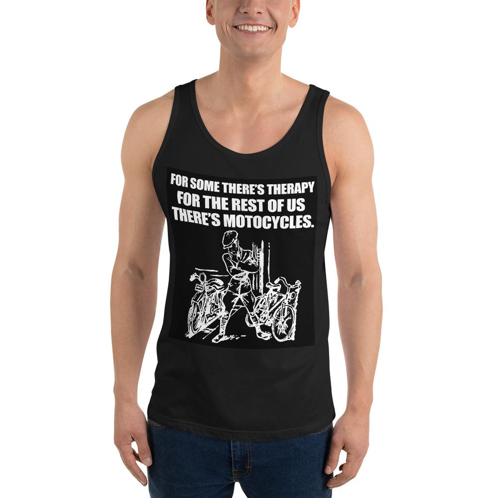 For Some There's Therapy Tank Top Biker Chiro's Black XS