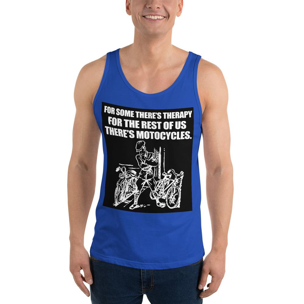 For Some There's Therapy Tank Top Biker Chiro's True Royal XS