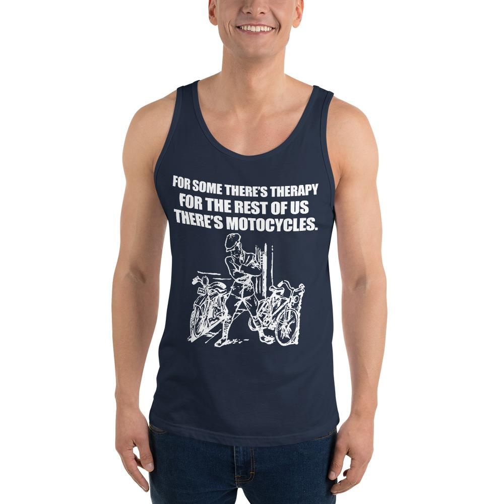 For Some There's Therapy Tank Top Chiro's Navy XS