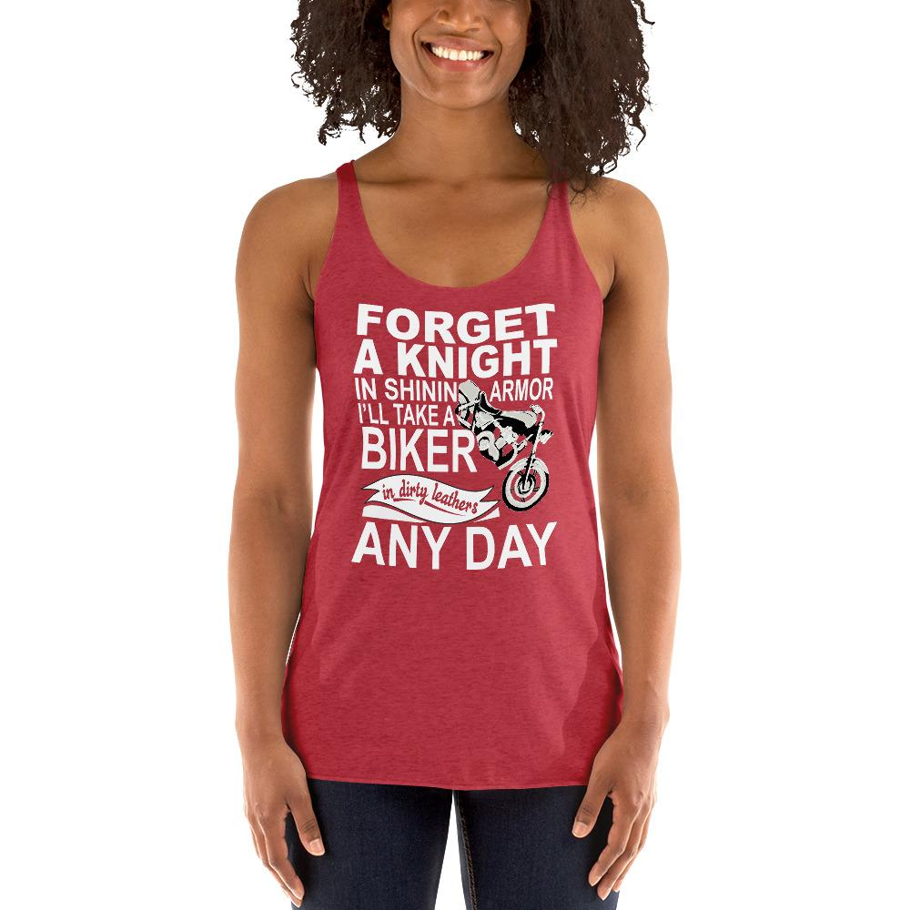 Forget a Knight In Shinning Armor Women's Tank Top Chiro's Vintage Red XS