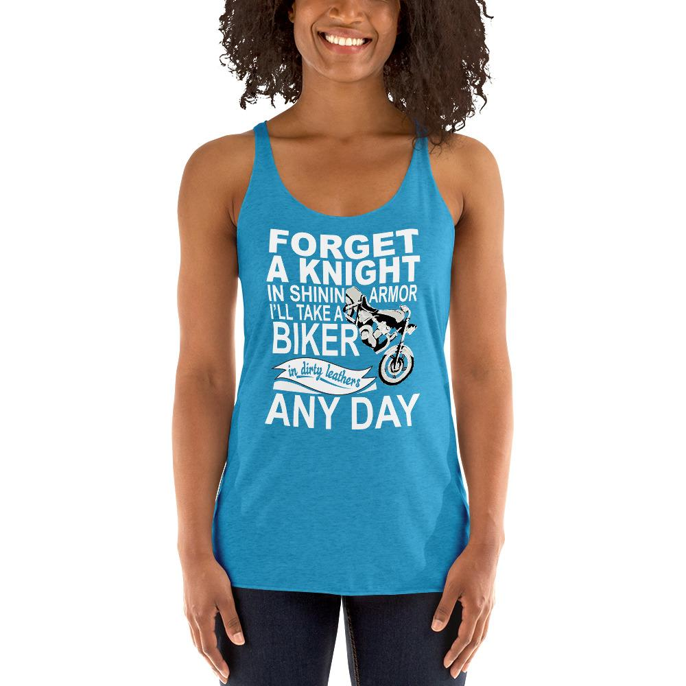 Forget a Knight In Shinning Armor Women's Tank Top Chiro's Vintage Turquoise XS