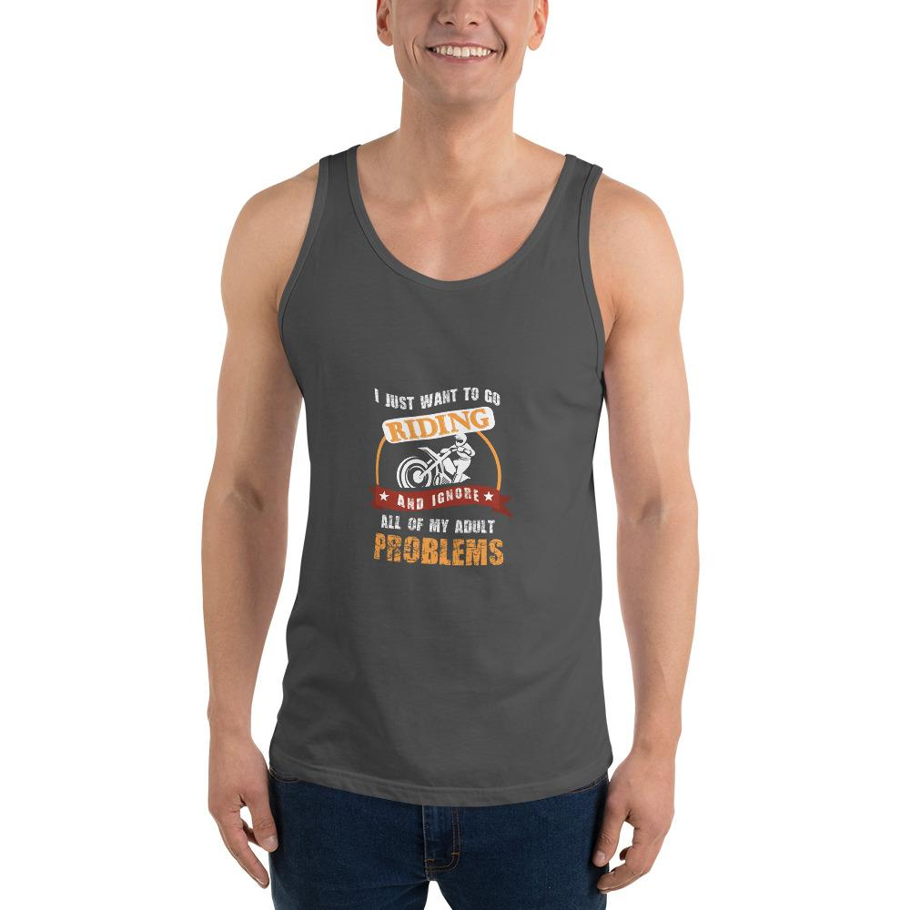 Forget My Problems Tank Top Chiro's Asphalt XS