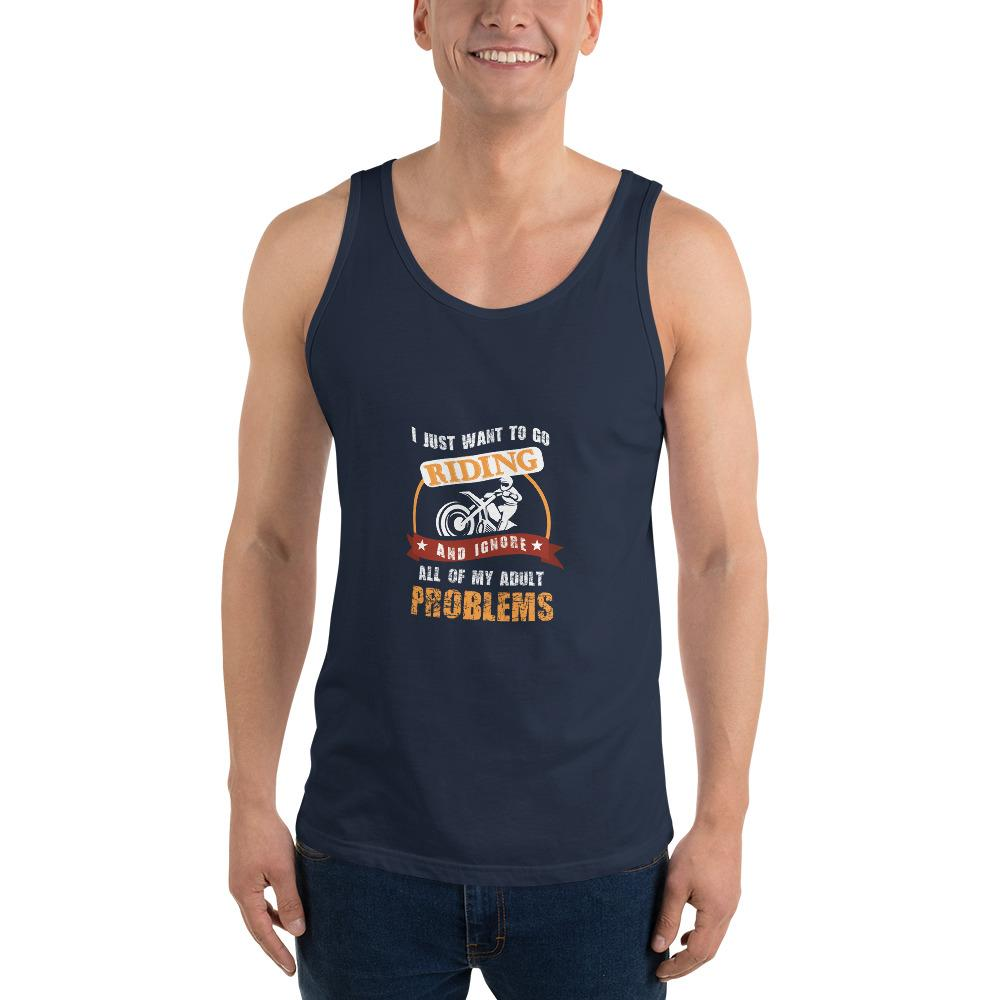 Forget My Problems Tank Top Chiro's Navy XS