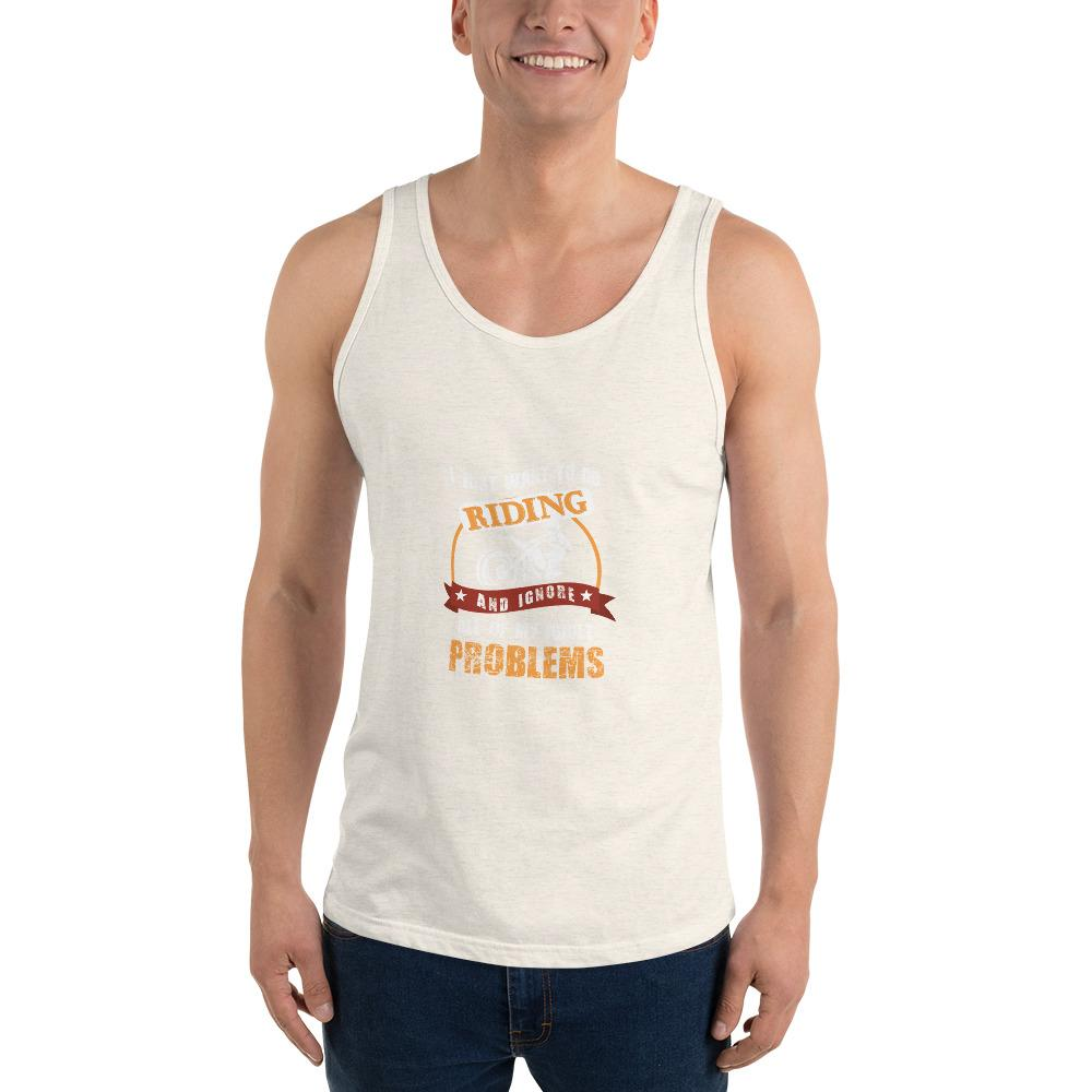 Forget My Problems Tank Top Chiro's Oatmeal Triblend XS
