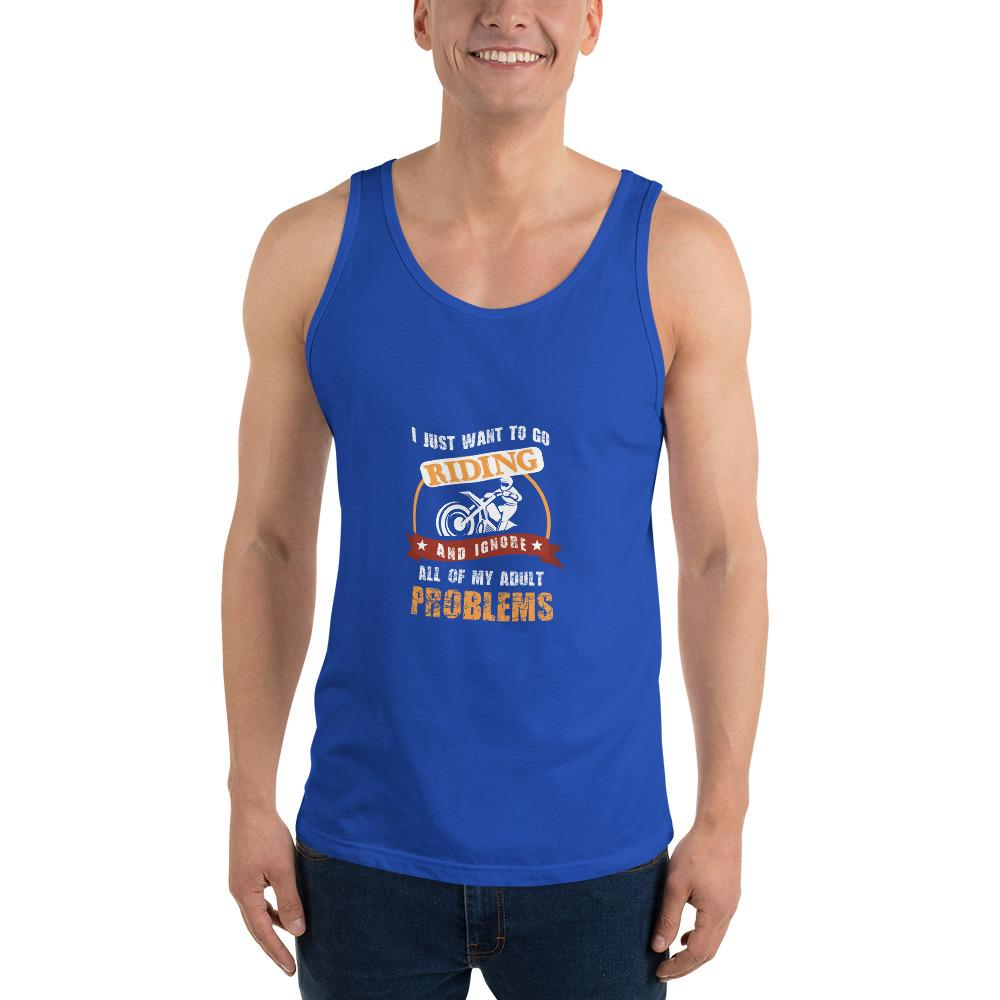 Forget My Problems Tank Top Chiro's True Royal XS