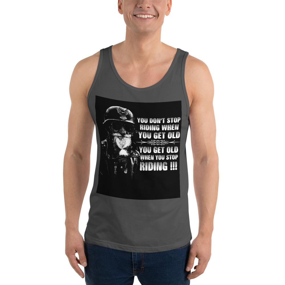 Get Old When You Stop Riding Tank Top Chiro's Asphalt XS