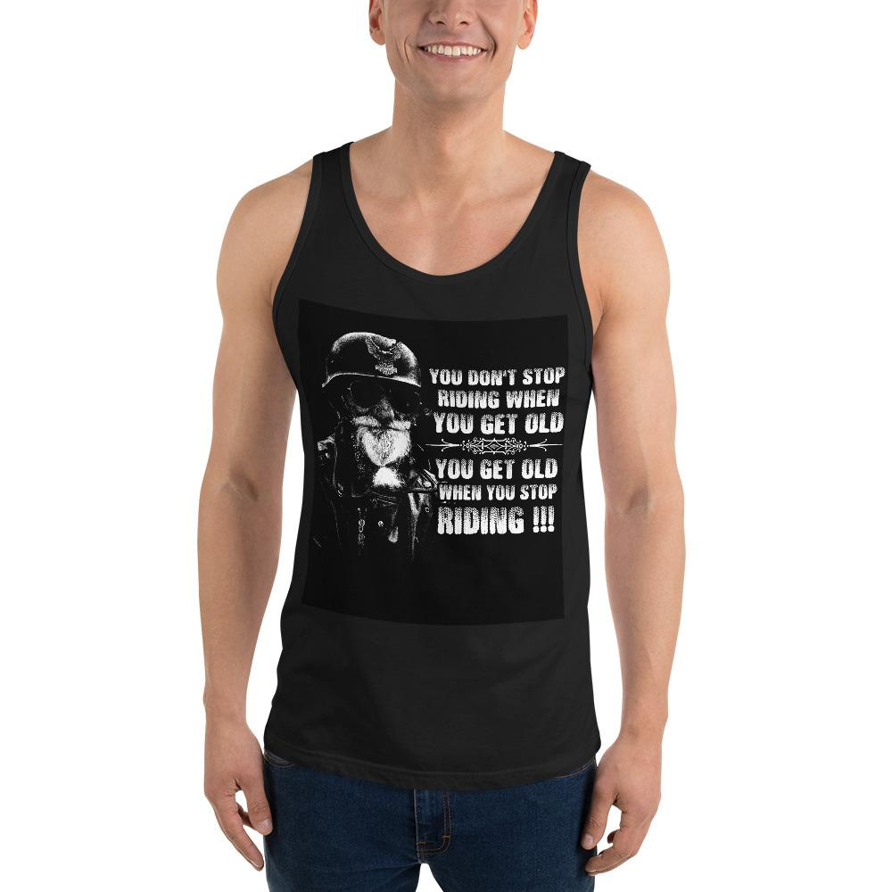 Get Old When You Stop Riding Tank Top Chiro's Black XS