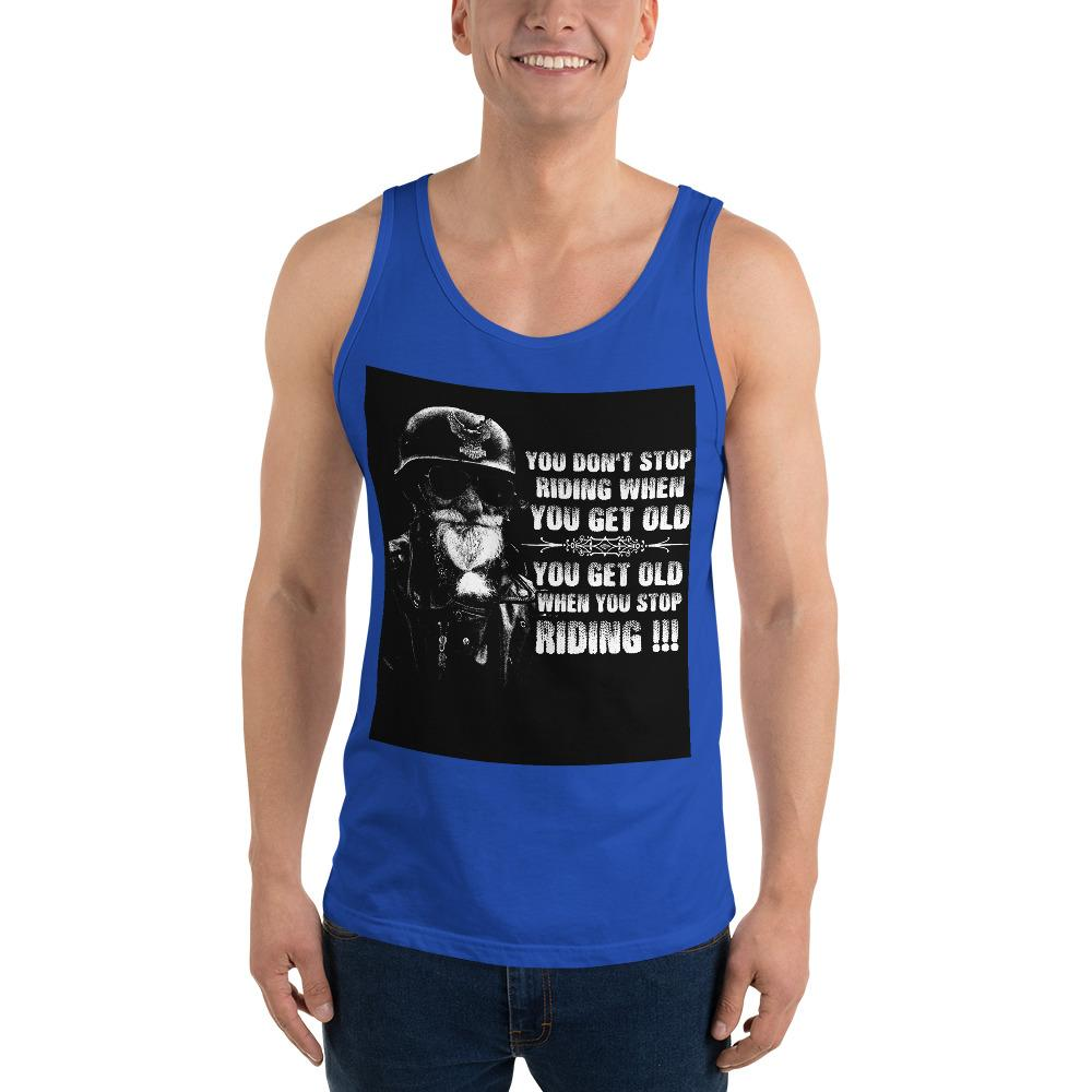 Get Old When You Stop Riding Tank Top Chiro's True Royal XS