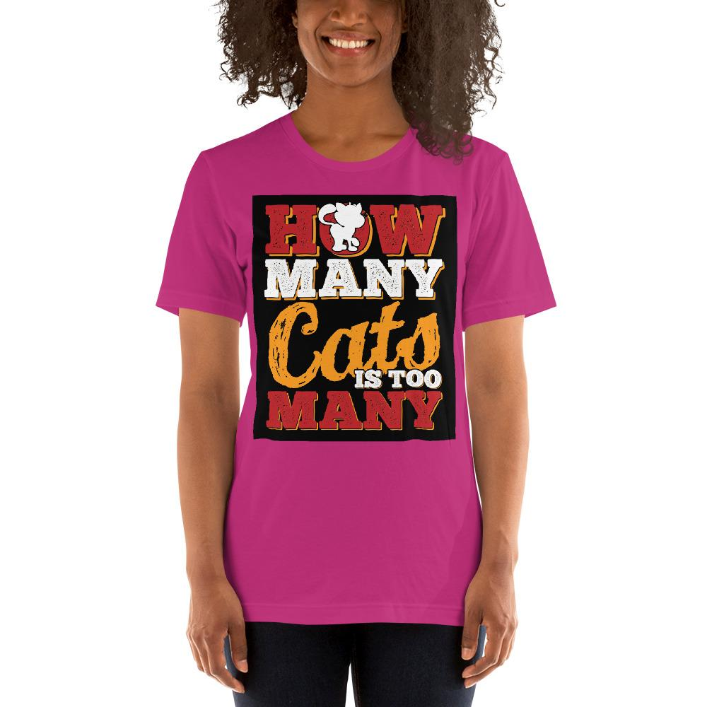 How many Cats is too Many Women's T-Shirt Chiro's Berry S