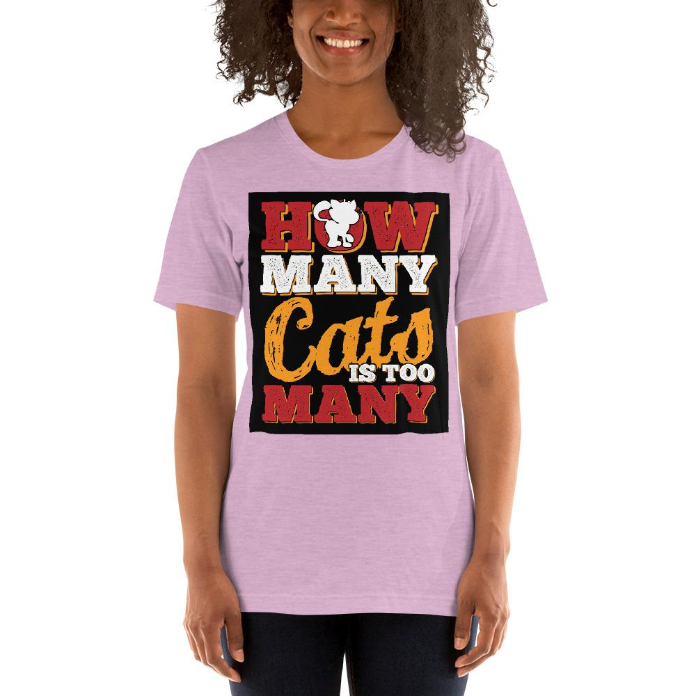 How many Cats is too Many Women's T-Shirt Chiro's Heather Prism Lilac XS