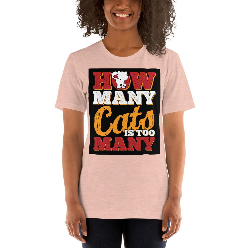 How many Cats is too Many Women's T-Shirt Chiro's Heather Prism Peach XS