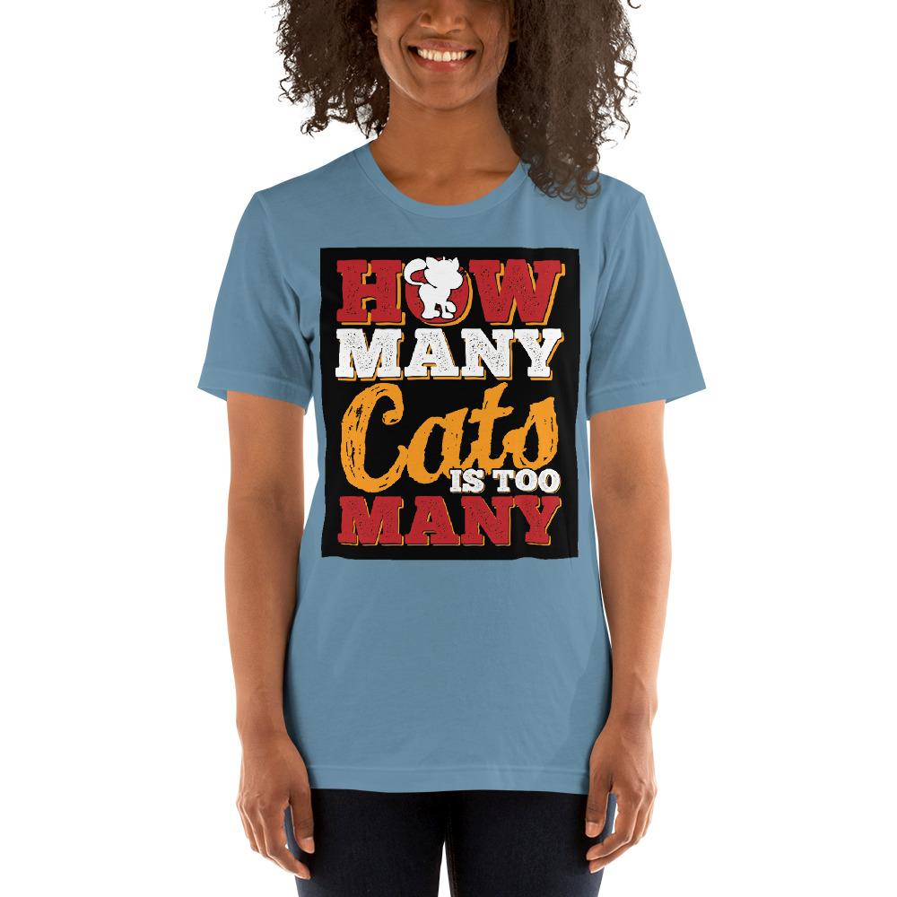 How many Cats is too Many Women's T-Shirt Chiro's Steel Blue S