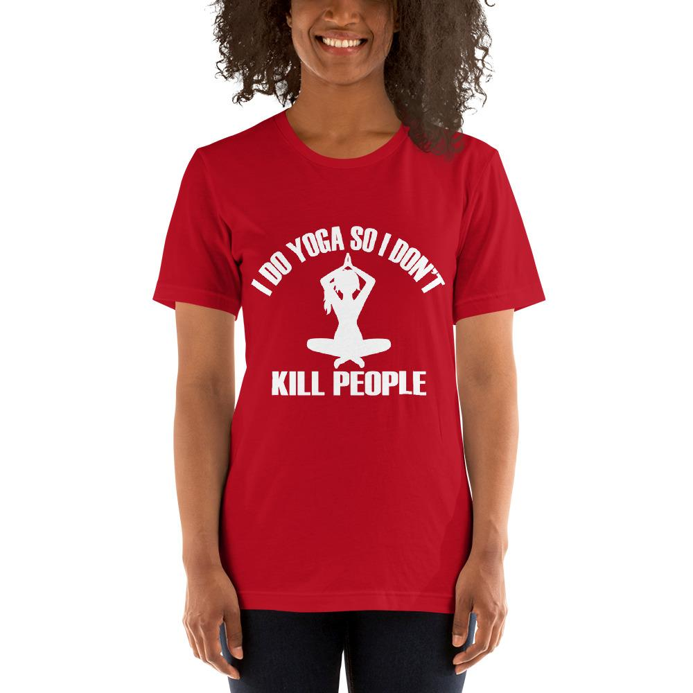 I do Yoga so I don't kill people Women's T-Shirt Chiro's Red S