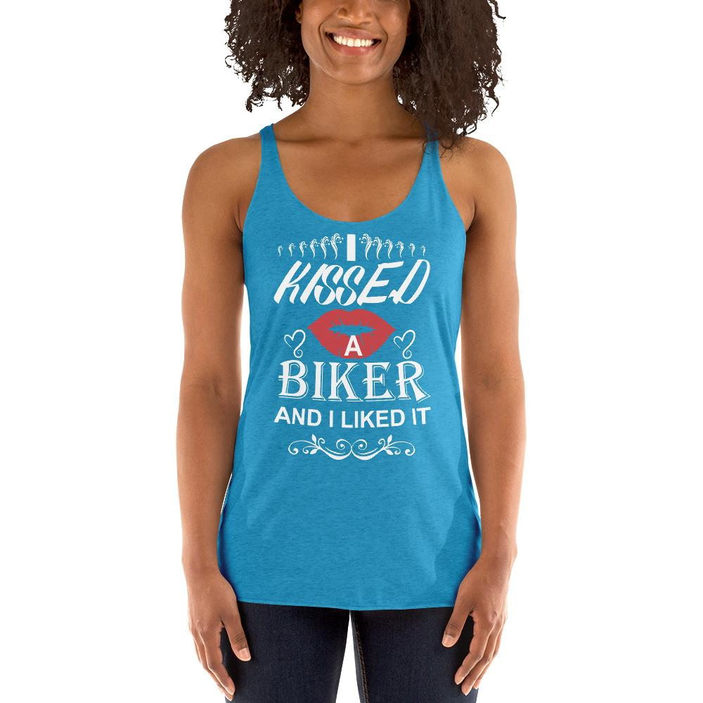 I Kissed a Biker Women's Tank Top Chiro's Vintage Turquoise XS