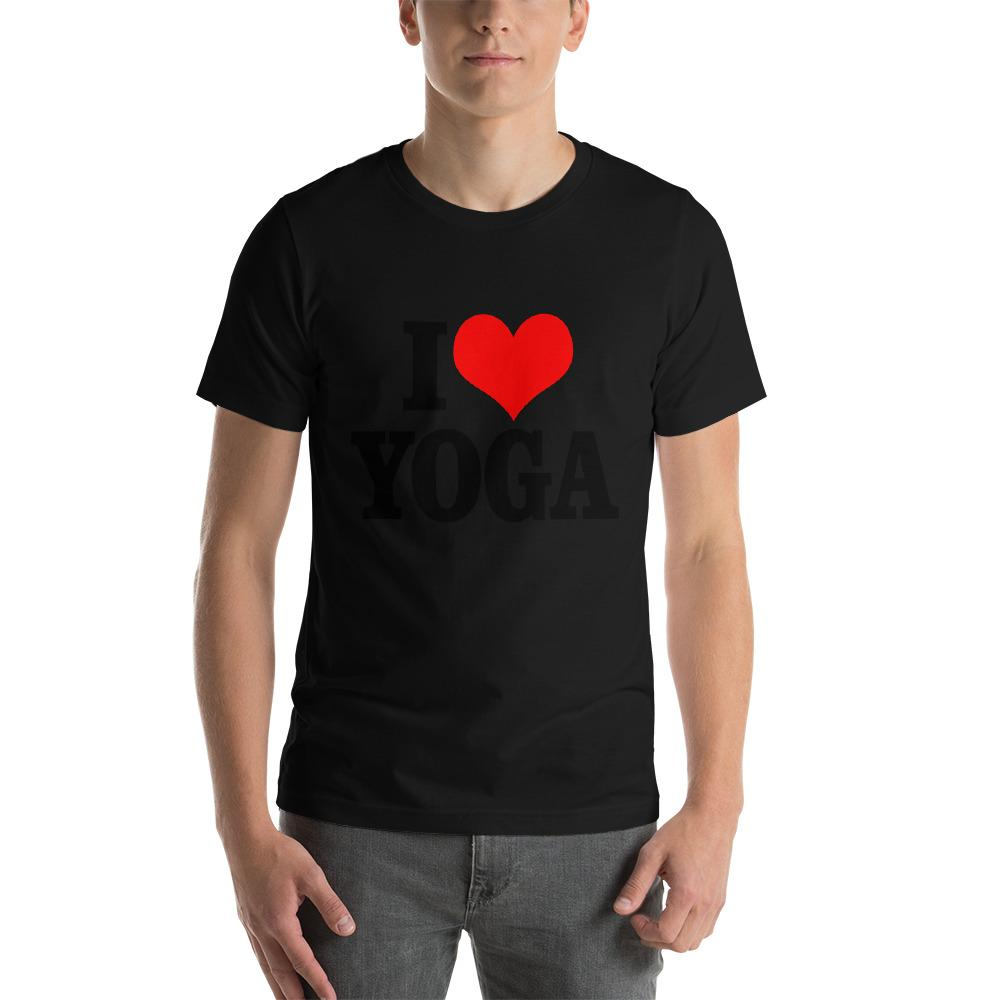 I Love Yoga T-Shirt Chiro's Black XS