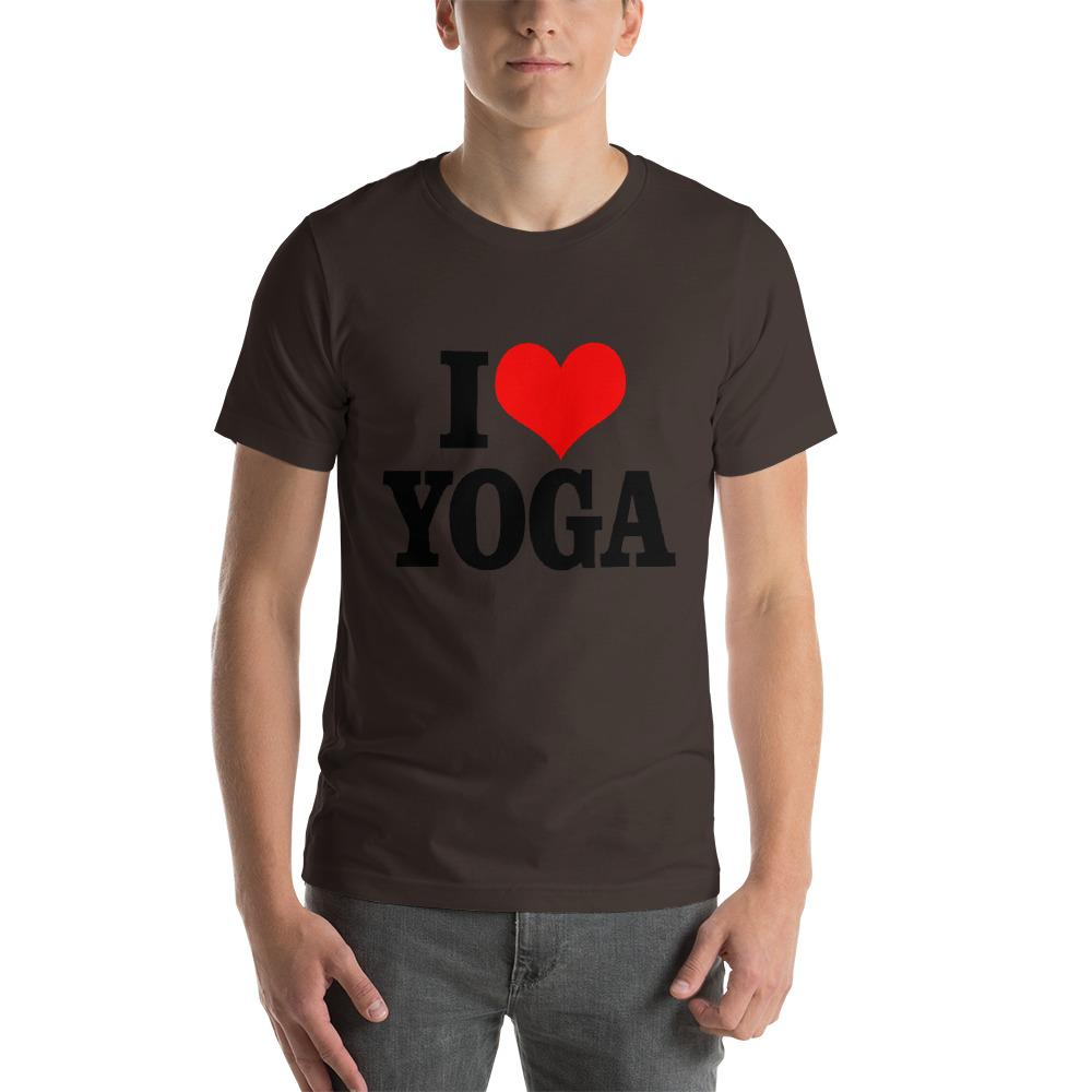 I Love Yoga T-Shirt Chiro's Brown S