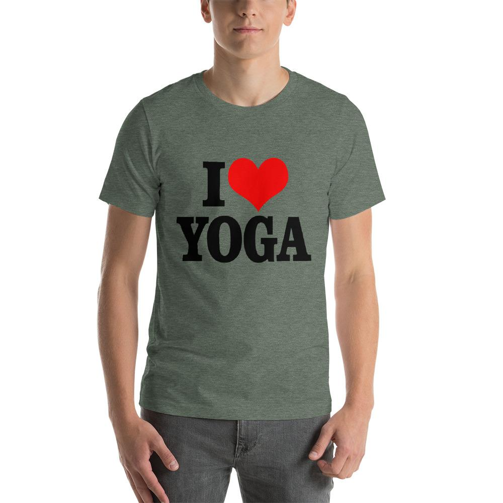 I Love Yoga T-Shirt Chiro's Heather Forest S