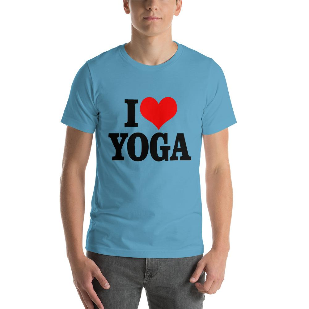 I Love Yoga T-Shirt Chiro's Ocean Blue S