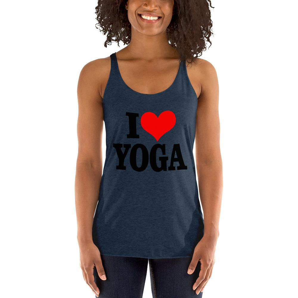I Love Yoga Women's Tank top Chiro's Vintage Navy XS