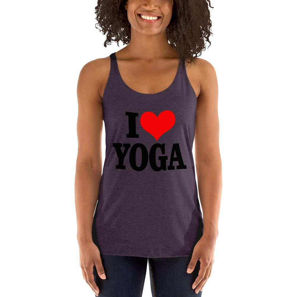 I Love Yoga Women's Tank top Chiro's Vintage Purple XS