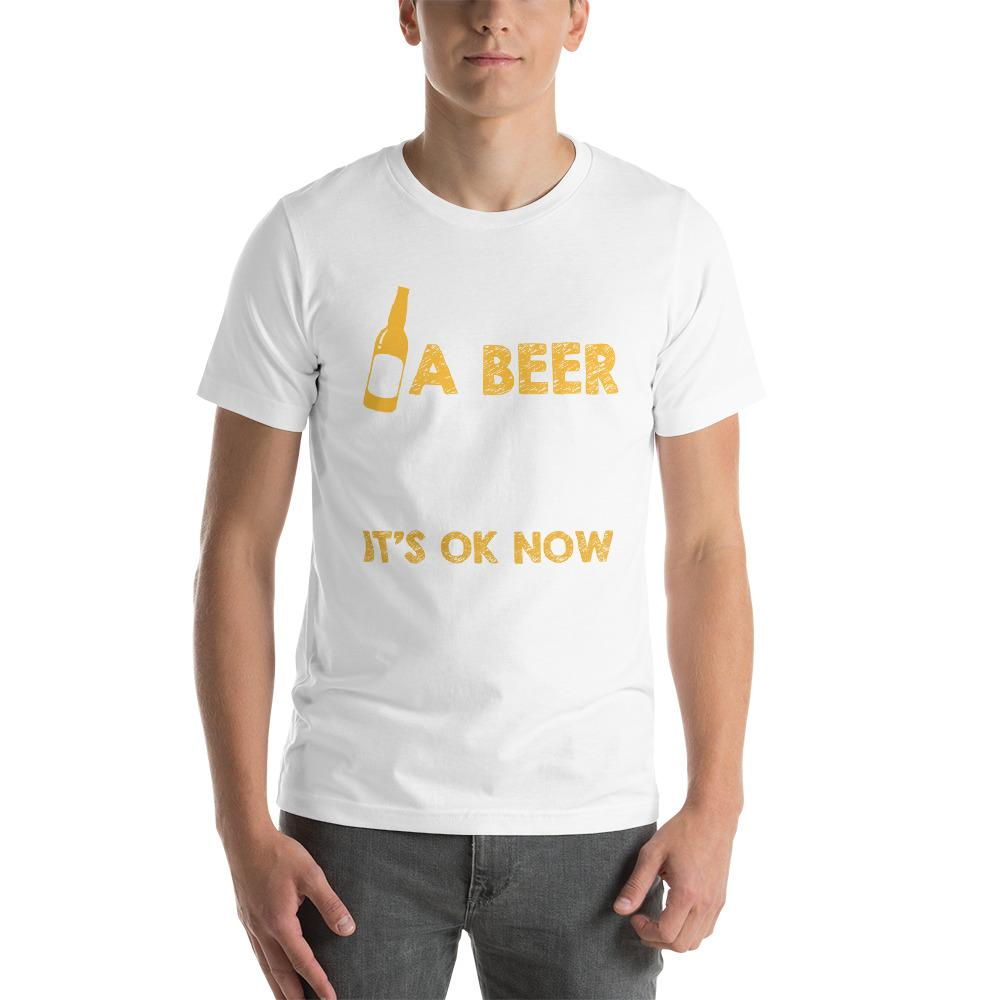 I saved a beer, it was stuck in a bottle Men's T-Shirt Chiro's White XS