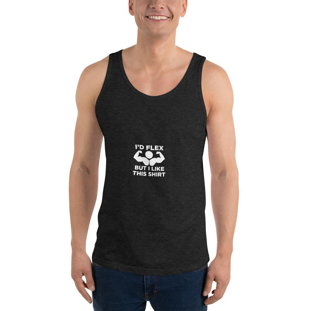 I'd Flex Tank Top Chiro's Charcoal-Black Triblend XS