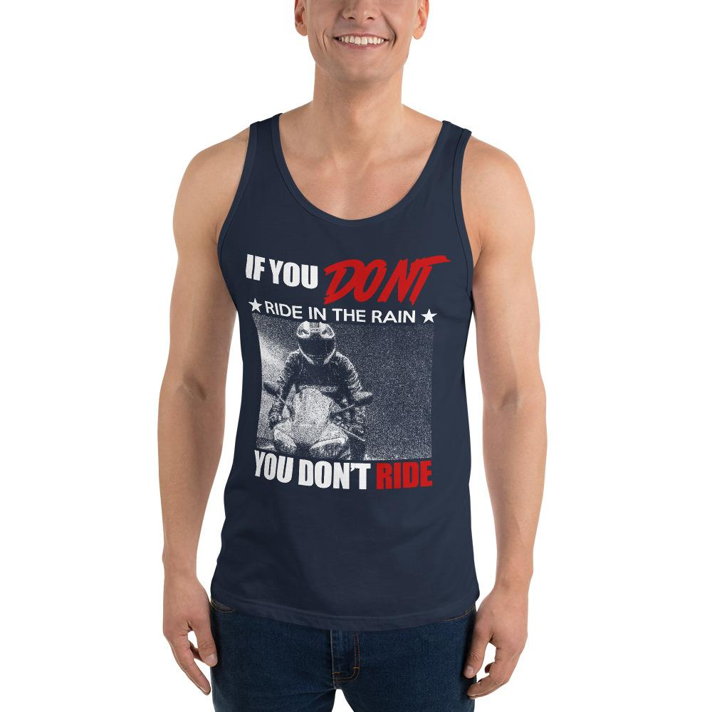 If you Don't Ride In The Rain Tank Top Chiro's Navy XS