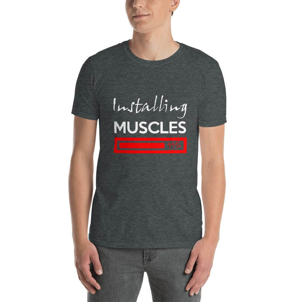 Installing Muscles Men's T-Shirt Chiro's Dark Heather S
