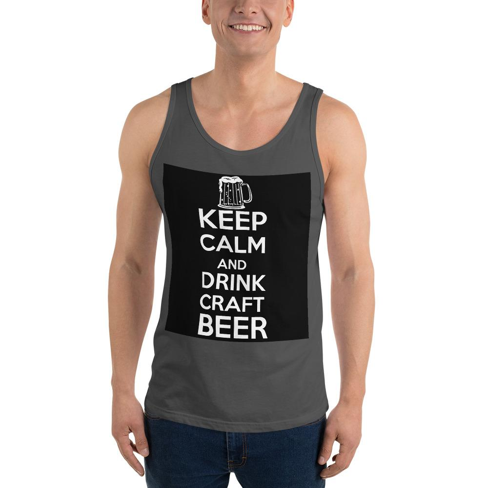 Keep Calm And Drink Craft Beer Tank Top Chiro's Asphalt XS