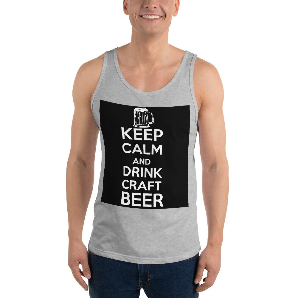 Keep Calm And Drink Craft Beer Tank Top Chiro's Athletic Heather XS