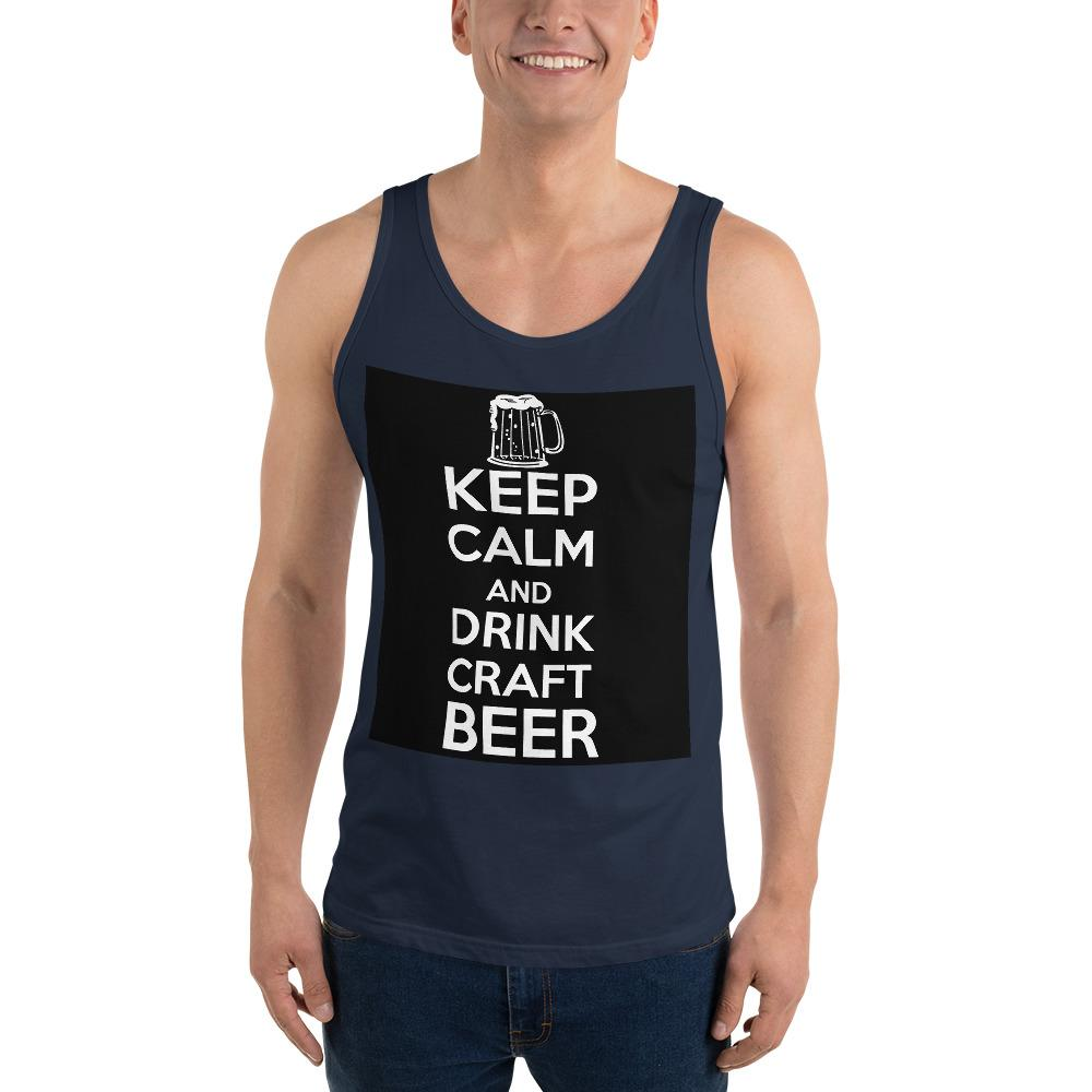 Keep Calm And Drink Craft Beer Tank Top Chiro's Navy XS