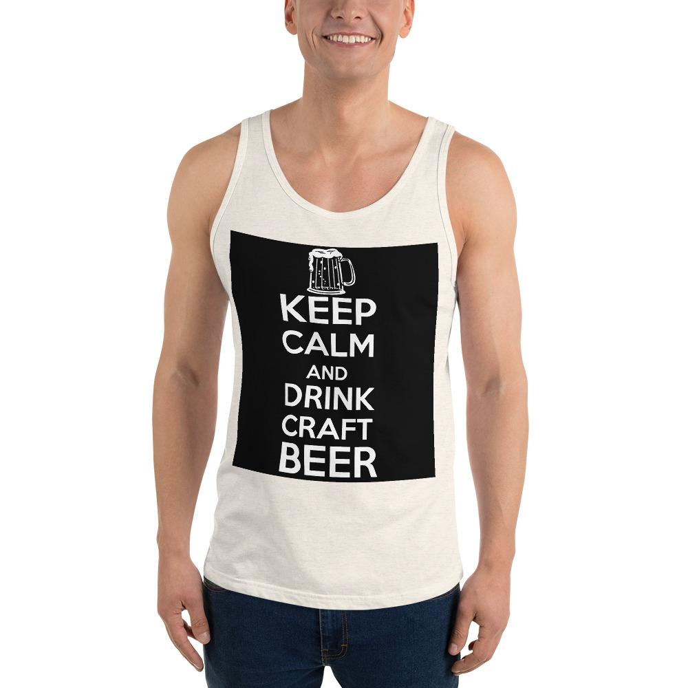 Keep Calm And Drink Craft Beer Tank Top Chiro's Oatmeal Triblend XS