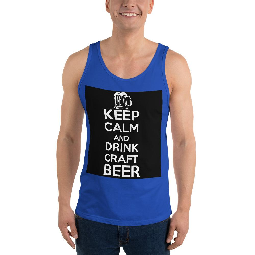 Keep Calm And Drink Craft Beer Tank Top Chiro's True Royal XS
