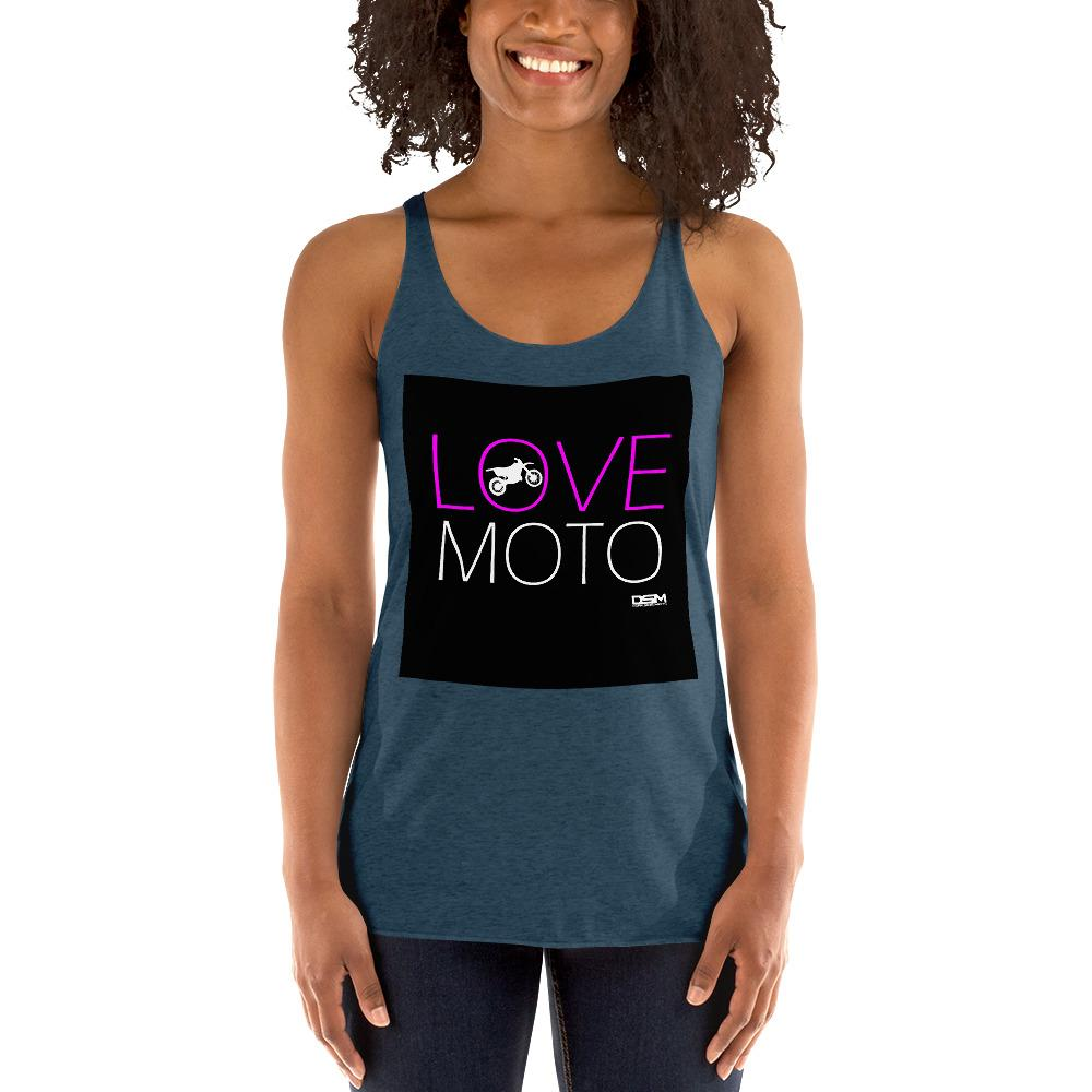 Love Motto Women's Tank Top Biker Chiro's Indigo XS