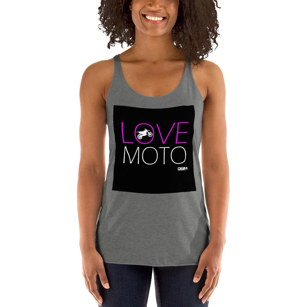 Love Motto Women's Tank Top Biker Chiro's Premium Heather XS