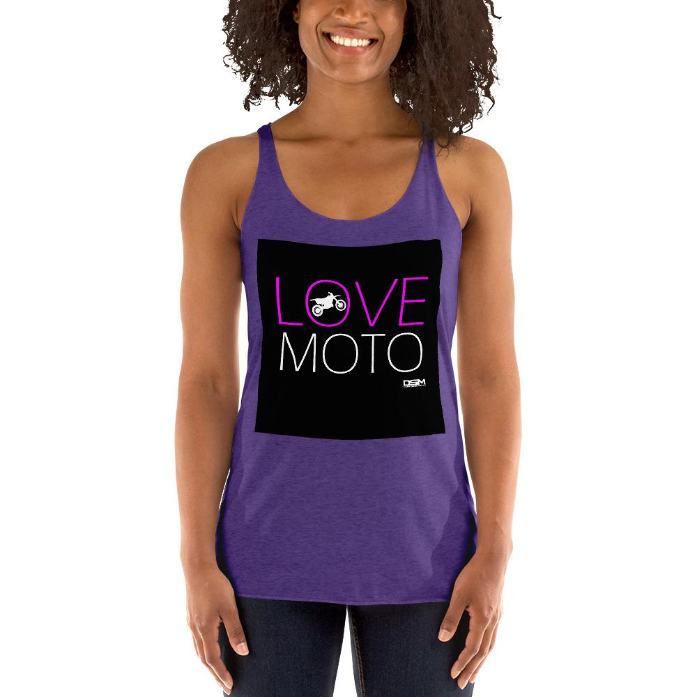 Love Motto Women's Tank Top Biker Chiro's Purple Rush XS