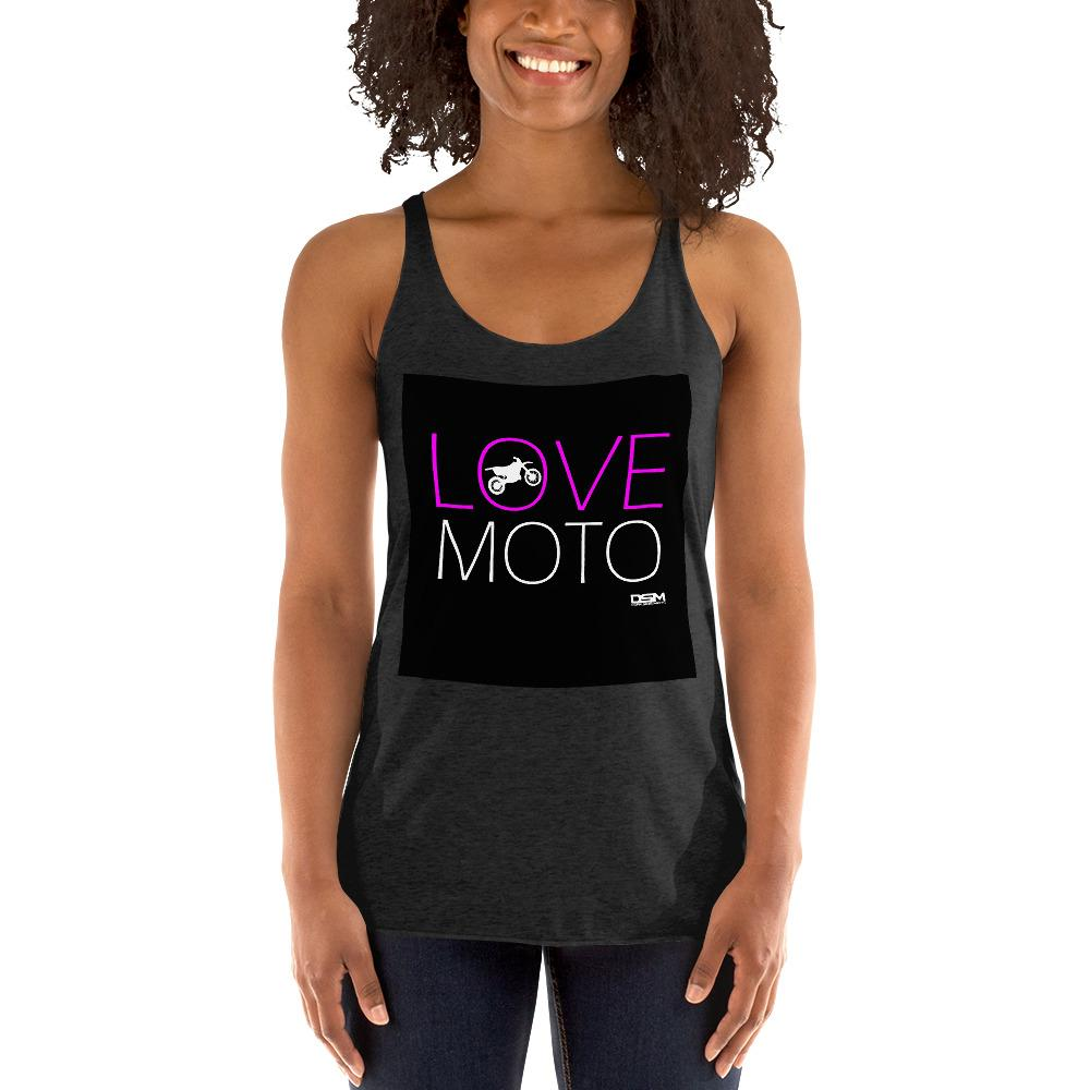 Love Motto Women's Tank Top Biker Chiro's Vintage Black XS