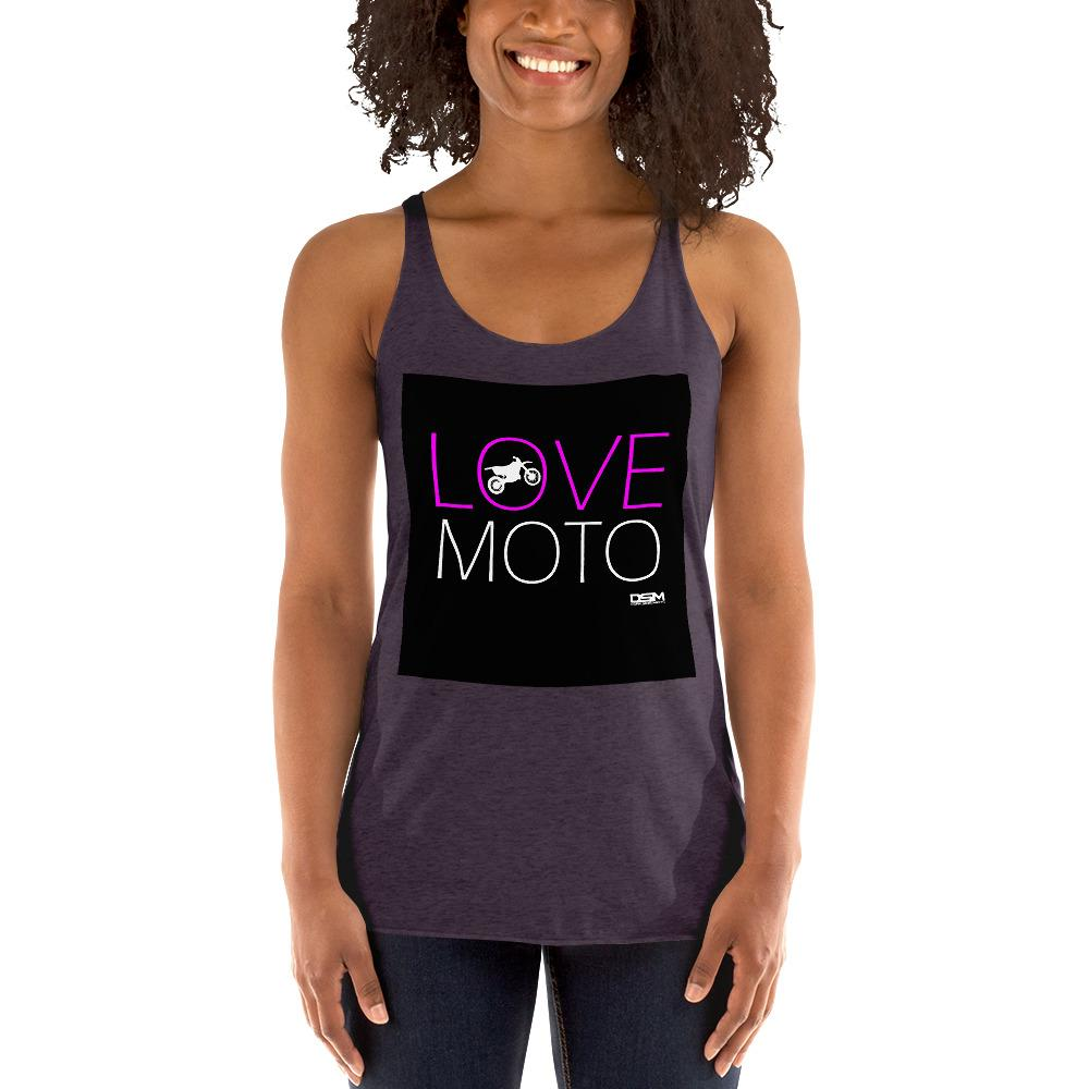 Love Motto Women's Tank Top Biker Chiro's Vintage Purple XS
