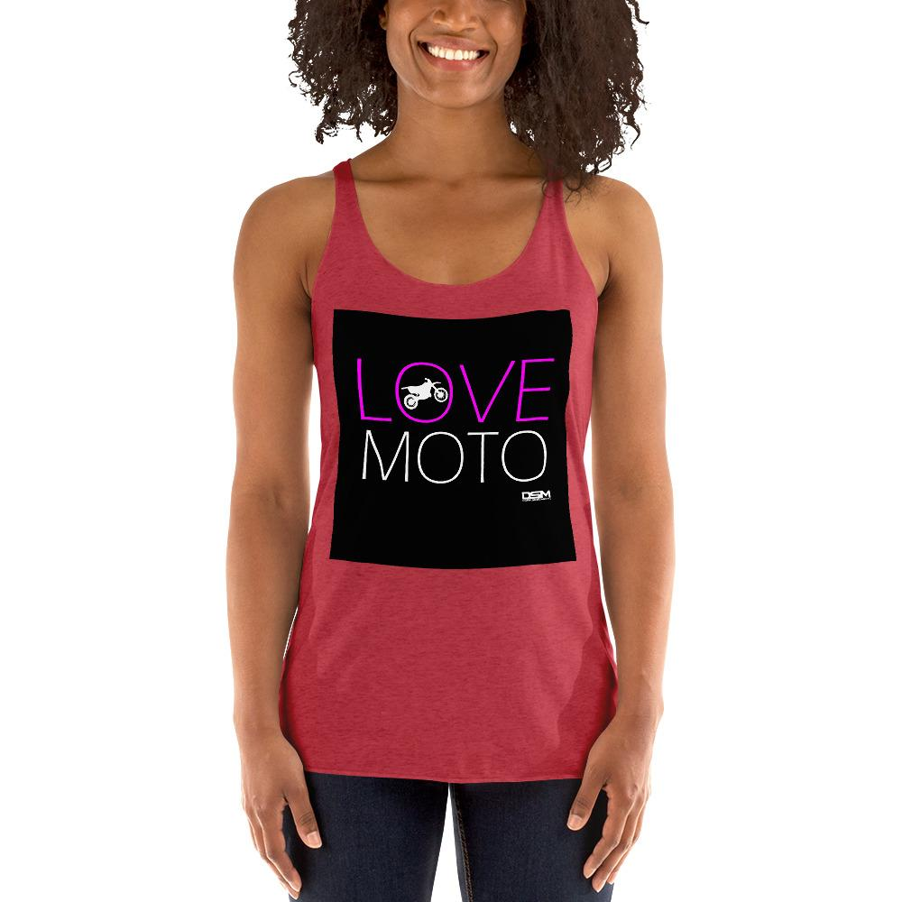 Love Motto Women's Tank Top Biker Chiro's Vintage Red XS