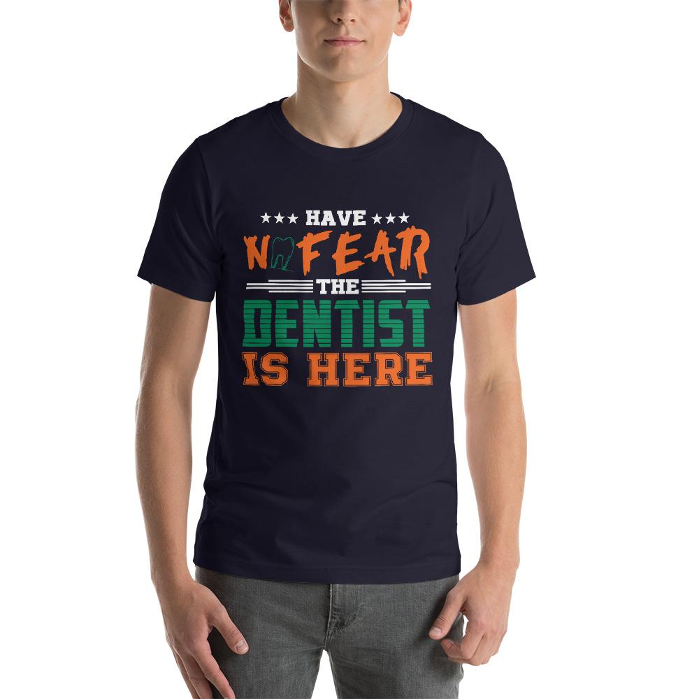 No Fear Dentists here Men's T-Shirt Chiro's Navy XS
