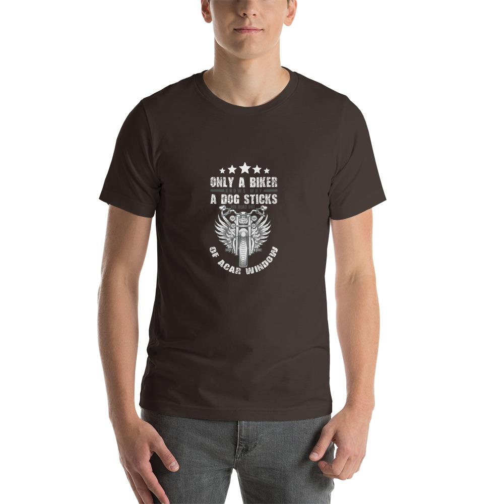 Only A Dog Knows Men's T-Shirt Biker Chiro's Brown S