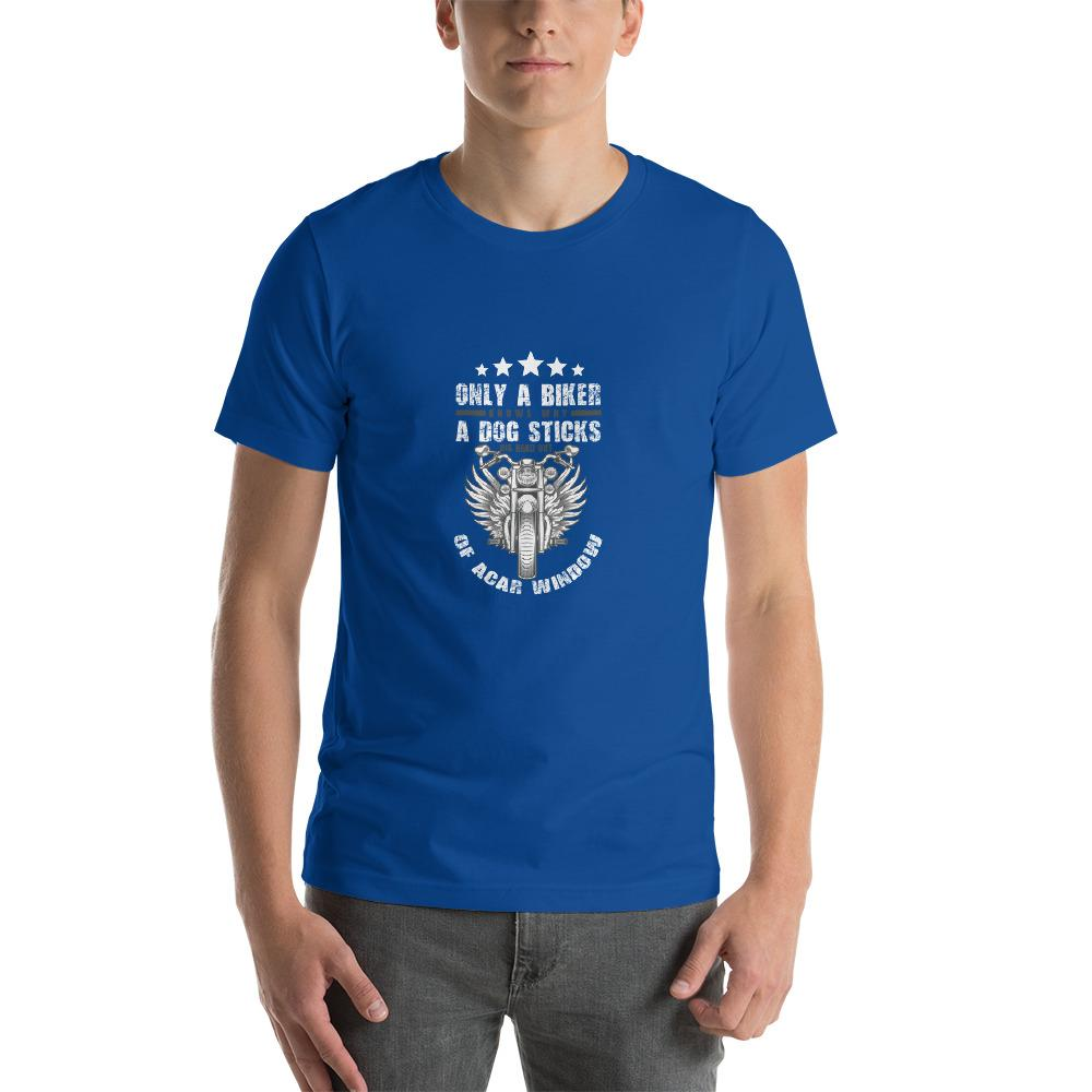 Only A Dog Knows Men's T-Shirt Biker Chiro's True Royal S