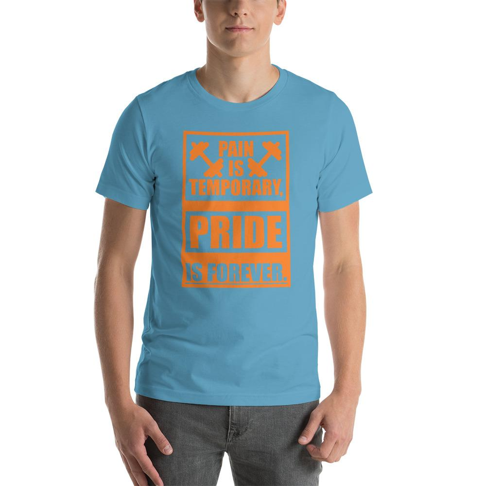 Pain is temporary, Pride is forever Men's T-Shirt Chiro's Ocean Blue S