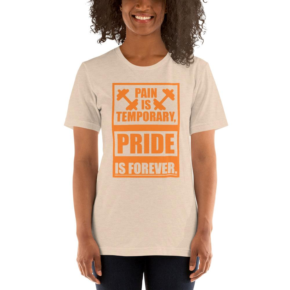 Pain is temporary, Pride is forever Women's T-Shirt Chiro's Heather Dust S