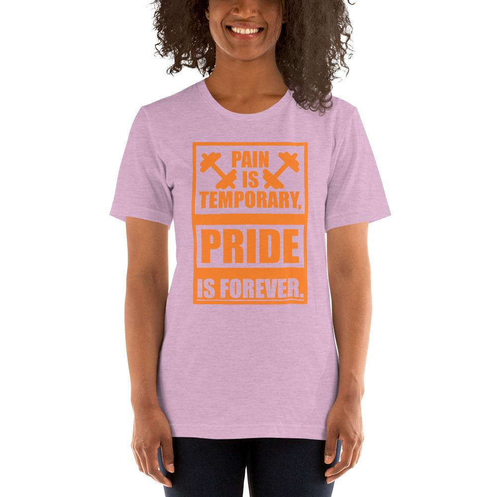 Pain is temporary, Pride is forever Women's T-Shirt Chiro's Heather Prism Lilac XS